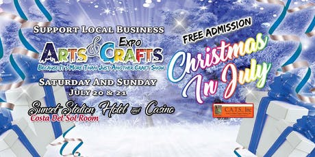 Christmas In July Arts And Crafts Show Free Admission tickets