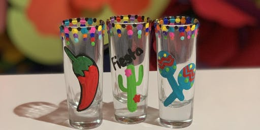 Fiesta Shot Glass Painting and National Tequila Day Party!