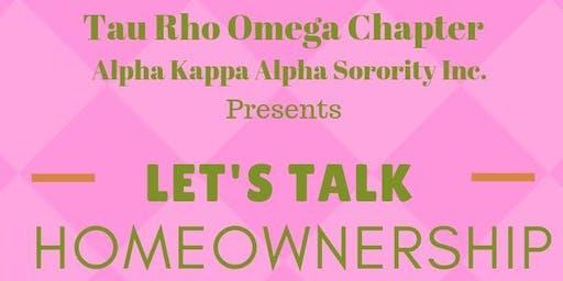 Let's Talk Homeownership