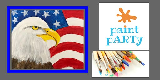 All Ages Paint Party on Canvas - Eagle with Flag - $25 pp