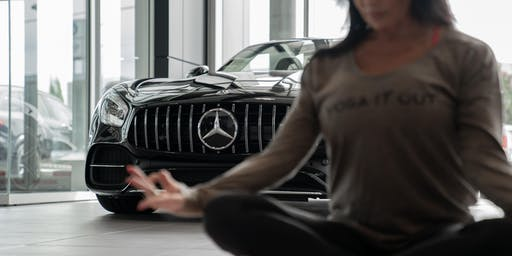 Yoga at Mercedes-Benz Langley with Oxygen Yoga and Joseph Richard Group