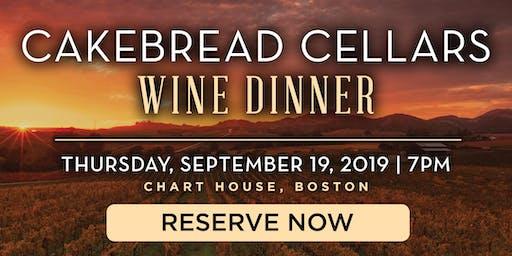 Chart House Cakebread Cellars Wine Dinner- Boston, MA