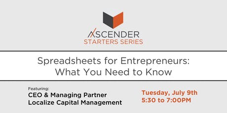 Spreadsheets for Entrepreneurs: What You Need to Know tickets
