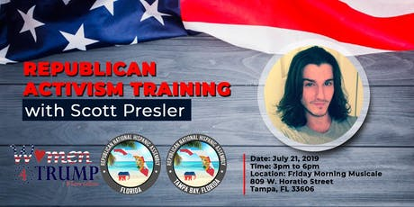 Republican Activism Training with Scott Presler Tampa Bay Area tickets