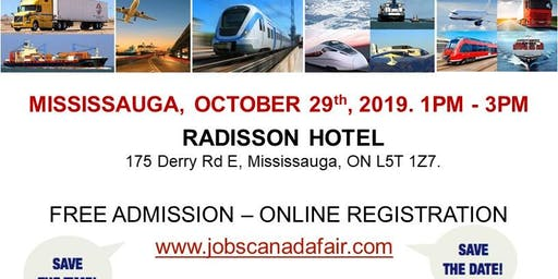 Mississauga Transportation Job Fair - October 29th, 2019
