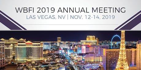 WBFI 2019 Annual Meeting tickets