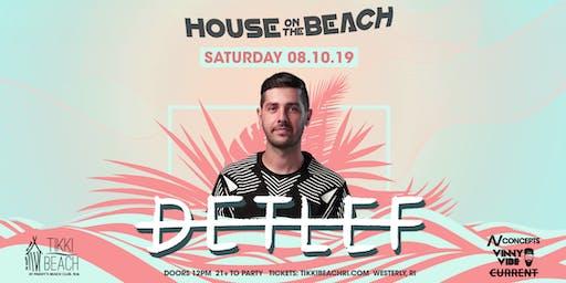 HOUSE ON THE BEACH ft. DETLEF at Tikki Beach | 8.10.19