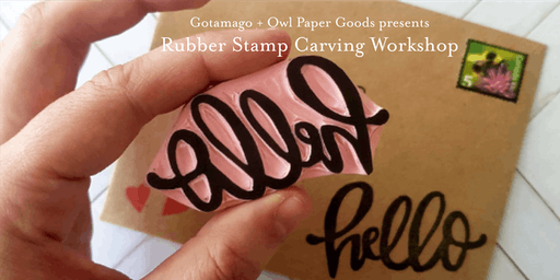 Rubber Stamp Carving Workshop with Owl Paper Goods