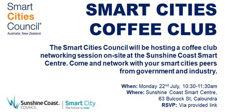 Sunshine Coast Smart Cities Coffee Club tickets