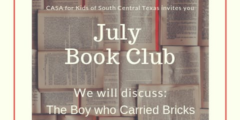 CASA Book Club: The Boy who carried bricks