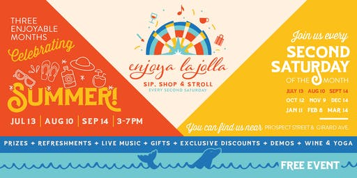 Enjoya La Jolla- Sip, Shop, and Celebrate Summer!