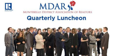MDAR Quarterly luncheon August 6th tickets