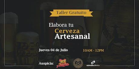 TALLER GRATUITO: ELABORA TU CERVEZA ARTESANAL entradas
