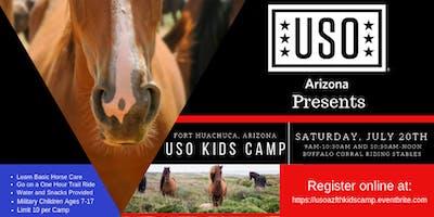 USO FT Huachuca Kids Camp_Horse Care/Ride