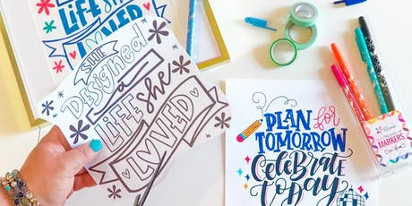 Hand Lettered Art Prints with NatterDoodle tickets