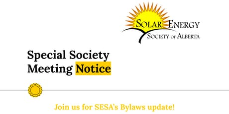 SESA Special Society Meeting tickets