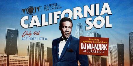 CALIFORNIA SOL tickets