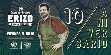 Erizo 10 Aniversario tickets