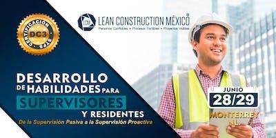 Certificación Supervisores y Residentes de Obra MTY