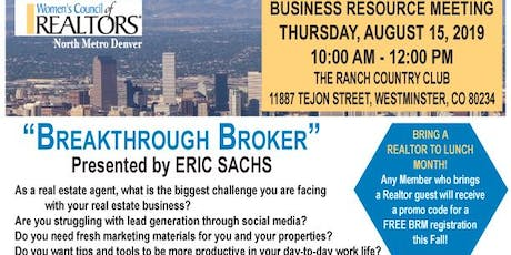 Breakthrough Broker Presented by Eric Sachs tickets