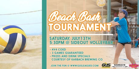 Beach Bash 4v4 Sand Volleyball Tournament Presented By Karbach tickets