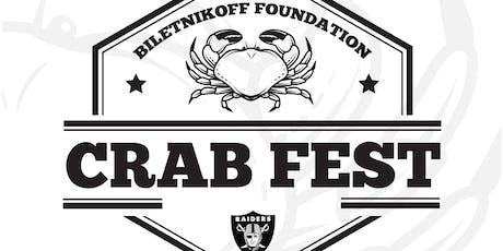 19th Annual Biletnikoff Foundation Crab Fest tickets