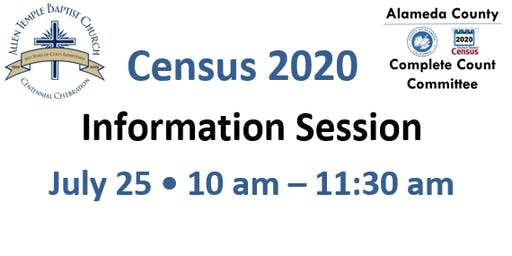 Census 2020 Information Session for Faith Based Organizations