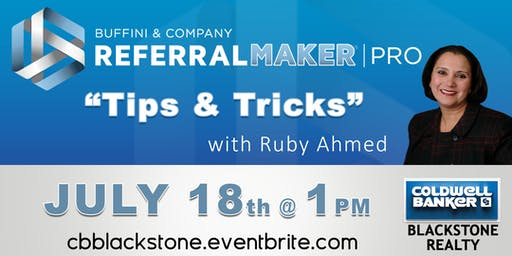 Referral Make Pro Tips & Tricks w/ Ruby Ahmed