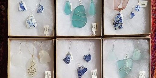 FULL - Sea Glass Jewelry Set at SLO Botanical Garden