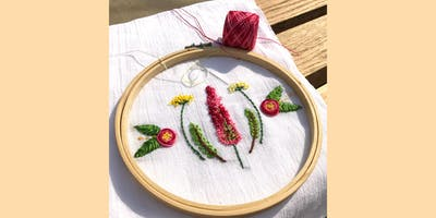 Embroidery 101 - Floral Embroidered Tea Towels