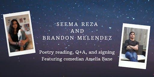 Poetry Reading with Seema Reza and Brandon Melendez