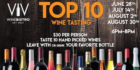 Top 10 wine tasting tickets