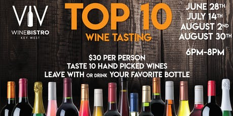 Top 10 wine tasting tickets