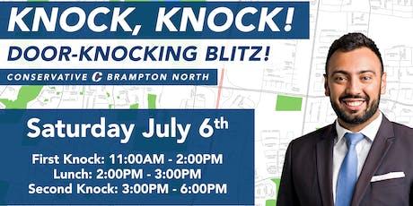 DOOR-KNOCKING BLITZ! tickets