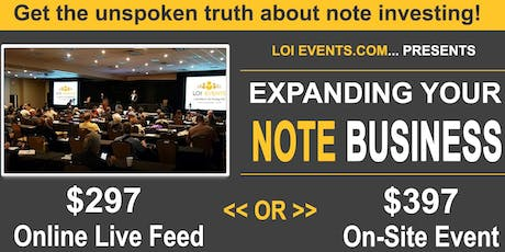 Develop and Expand Your Note Business tickets
