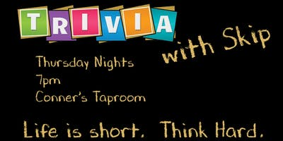 Trivia with Skip at Conner's Taproom