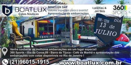 BOATLUX DAY Apresentação de embarcações em Timeshare (Compartilhamento) ingressos