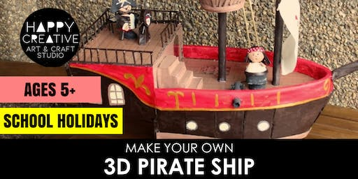 3D Pirate Ship (Ages 5+)