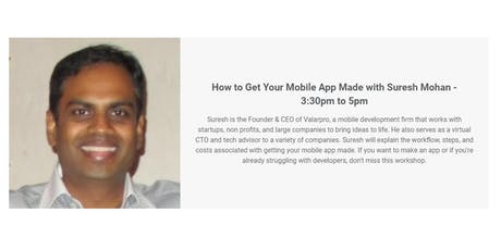 How to Get Your Mobile App Made with Suresh Mohan tickets