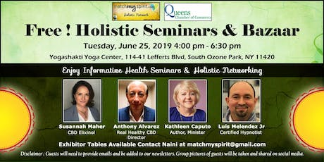 Free ! Holistic Seminars & Bazaar tickets