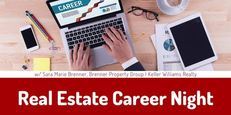 Real Estate Career Night: Considering Real Estate & Licensed Agents -- All Are Welcome tickets