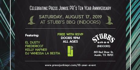 Press Junkie & Friends; Celebrating Press Junkie PR's Ten Year Anniversary tickets