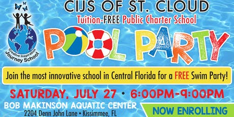 CIJS FREE Pool Party 6:00 P.M.-7:30 P.M.  tickets