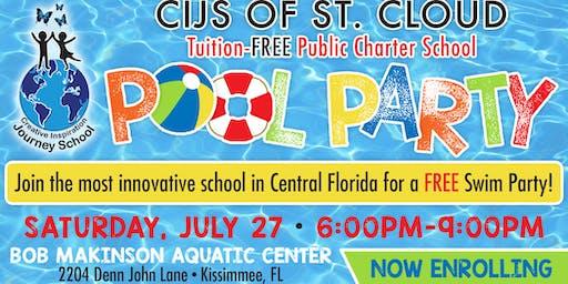 CIJS FREE Pool Party 7:30 P.M.-9:00 P.M.