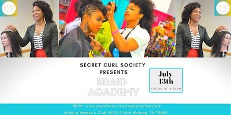 Secret Curl Society - Braid Academy tickets