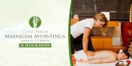 Curso de Massagem Ayurvédica Brasília - Básico ingressos