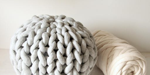 Knit Pouf Cushion Workshop at gather workshop