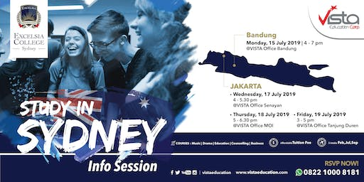 Study in Sydney Info Session with Excelsia College- Jakarta Selatan