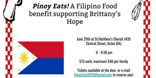 Pinoy Eats! A Filipino Food benefit supporting Brittany's Hope