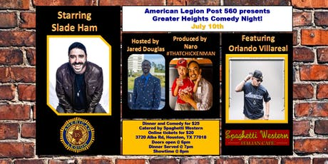 Greater Heights Comedy Night with Slade Ham tickets